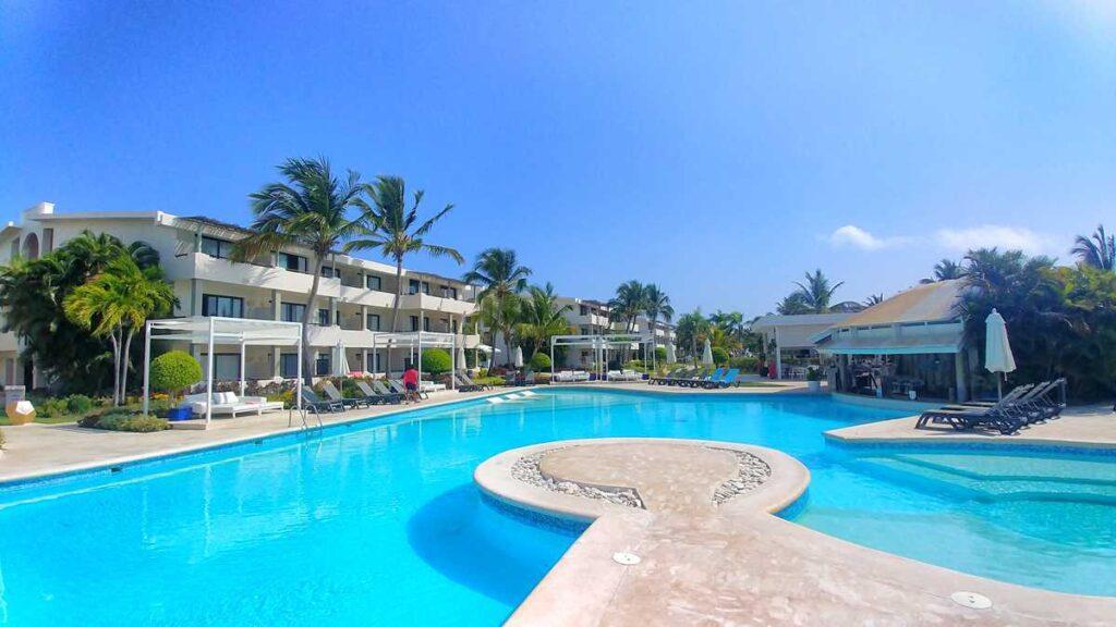 The main pool at Catalonia Royal Bavaro, a Punta Cana adults-only hotel