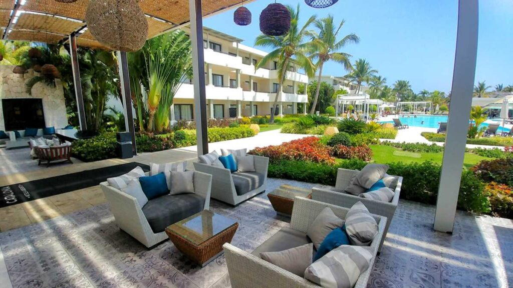 Lounge area at this adults-only all-inclusive resort in Punta Cana
