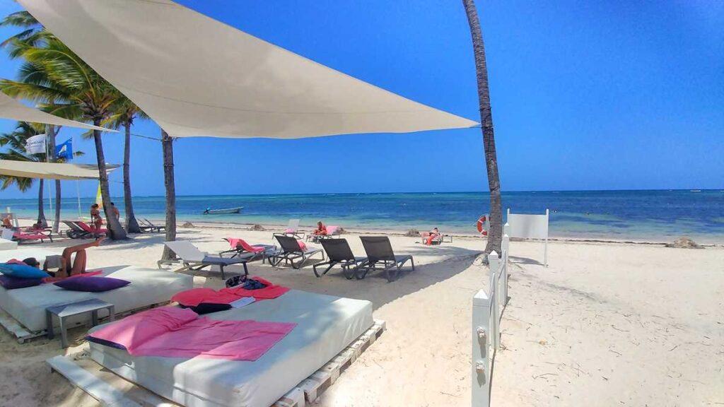 The Privileged beach section at Catalonia Royal Bavaro