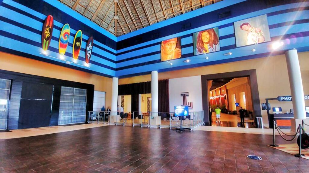 The famous Boulevard at Hard Rock Punta Cana with many entertainment options