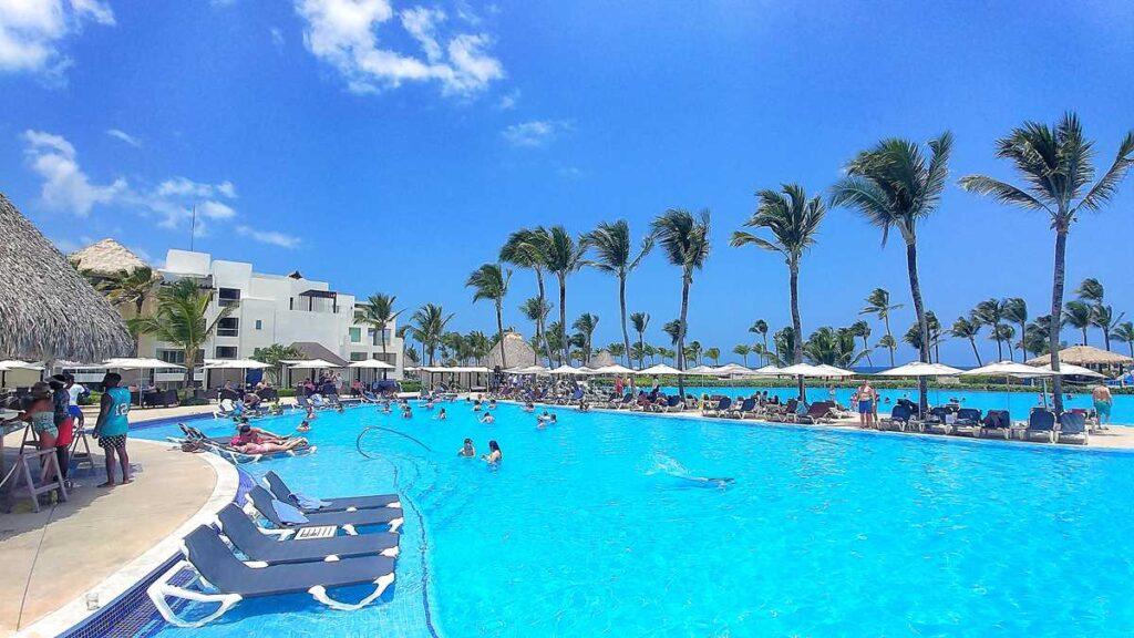 One of the main pools at Hard Rock Resort Punta Cana