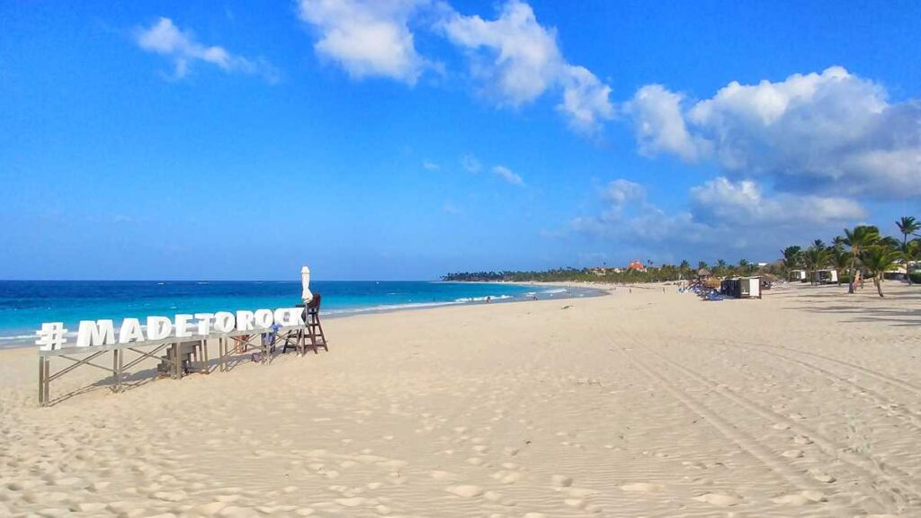 The beautiful beach at Hard Rock Punta Cana, one of the best in Punta Cana