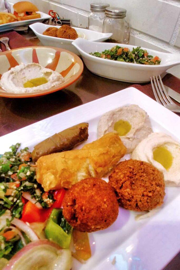 Libanese food in Punta Cana at Hard Rocks restaurant Bistro Med