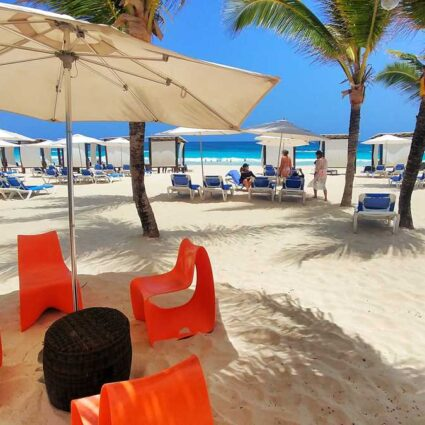 Enjoying a drink at Punta Canas all-inclusive resorts