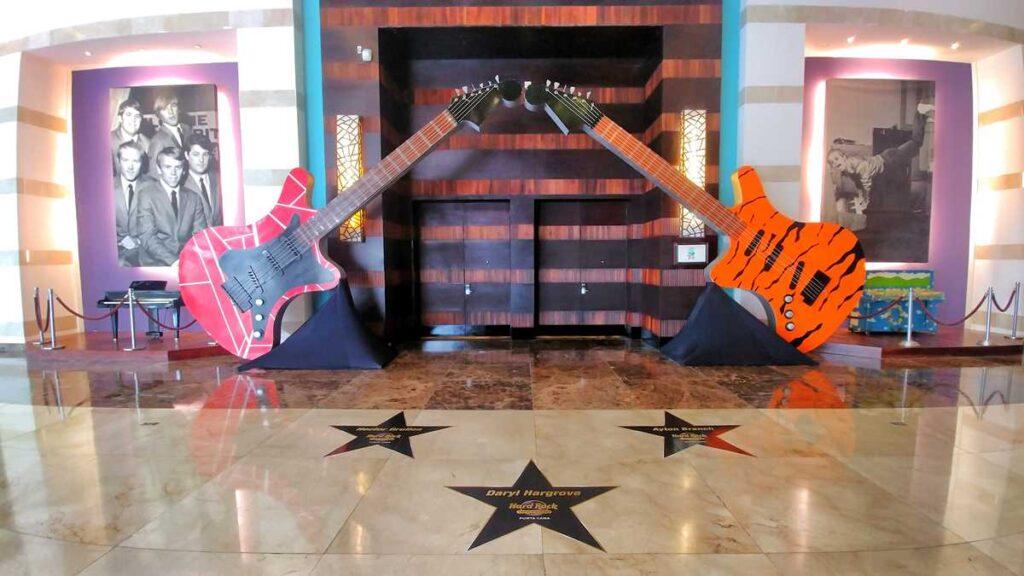One of the main original music exhibits at Hard Rock Punta Cana