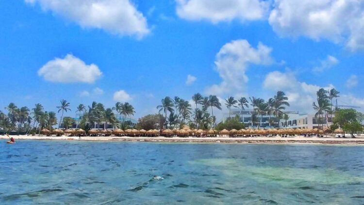 Serenade Punta Cana from the water, a newly opened all-inclusive resort in Punta Cana