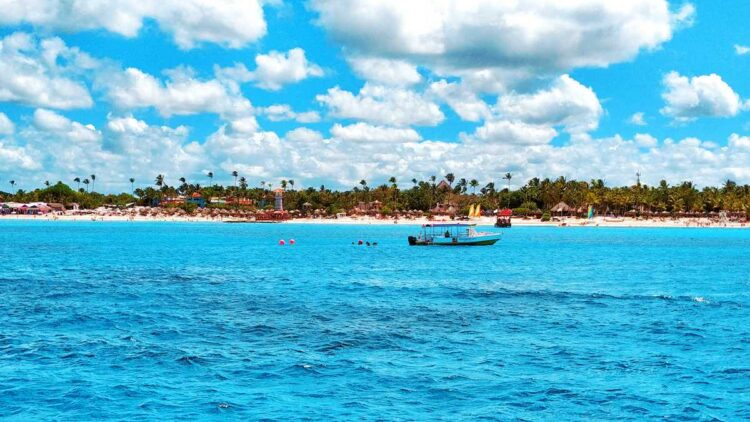 View from the ocean at Bayahibe and Dominicus Beach