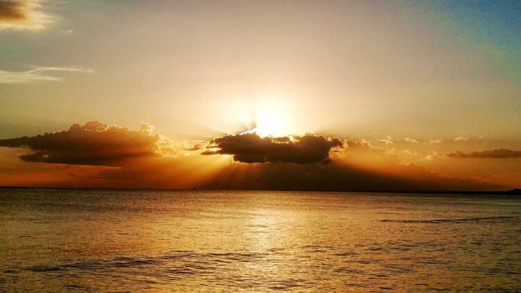 Sunset from Bayahibe, one of the best places for sunsets in the Dominican Republic