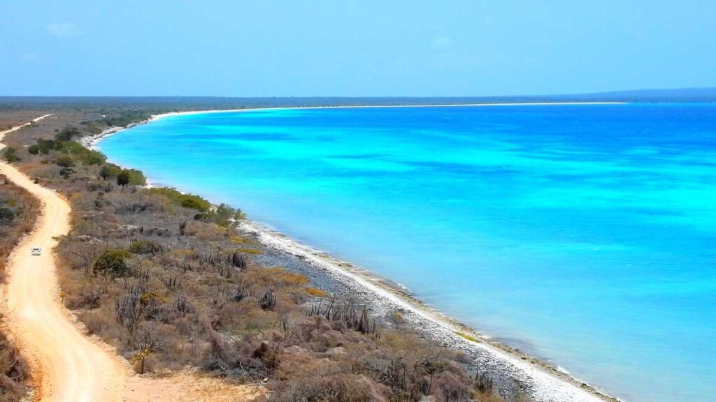 The beautiful beach of Bahia de las Aguilas in the Southwest of the Dominican Republic