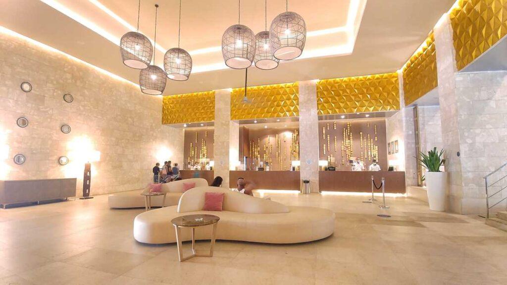 The lobby at Grand Bavaro Princess all-inclusive resort