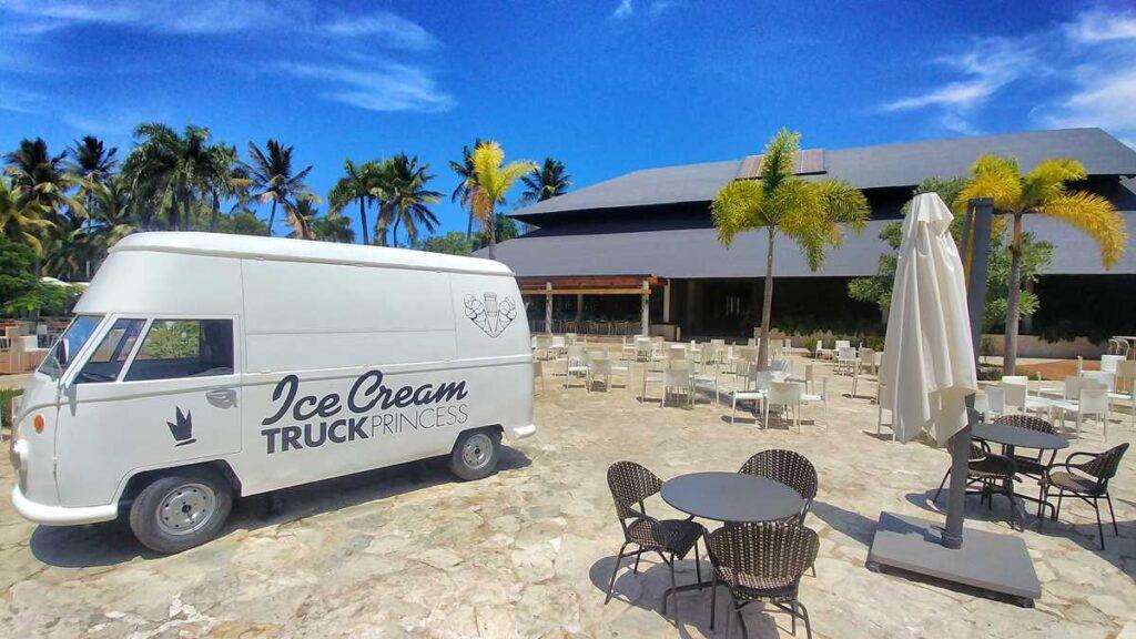 One of the food trucks at Grand Bavaro Princess in Punta Cana