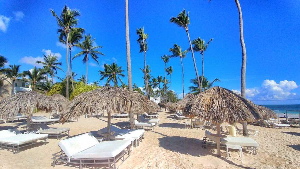 The Grand Bavaro Princess beach in the Platinumm Club section