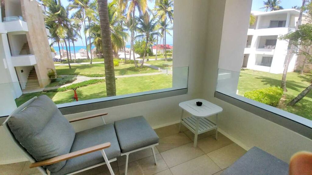 View from the balcony on one of the Grand Bavaro Princess rooms