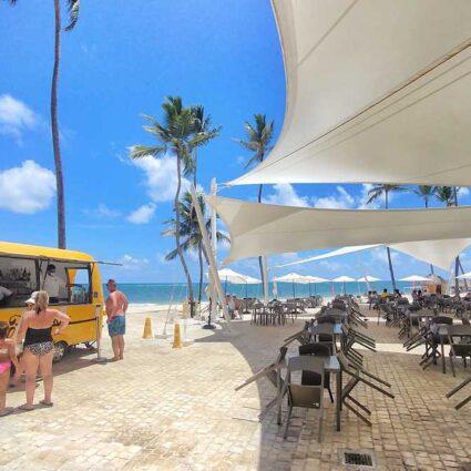 Food trucks in Punta Cana at Grand Bavaro Princess