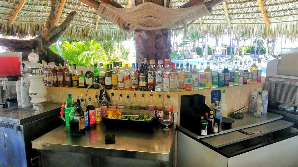 Grand Bavaro Princess bars and alcohol including various liquor brands