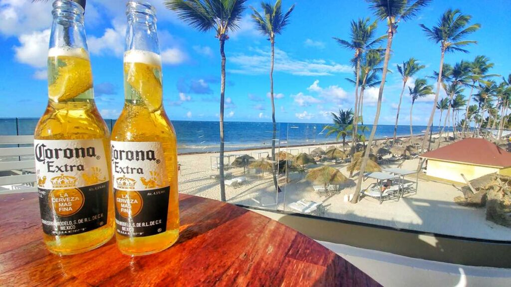 One of the best beach clubs in Punta Cana with an amazing view, PBG bar at Grand Bavaro Princess Platinum section