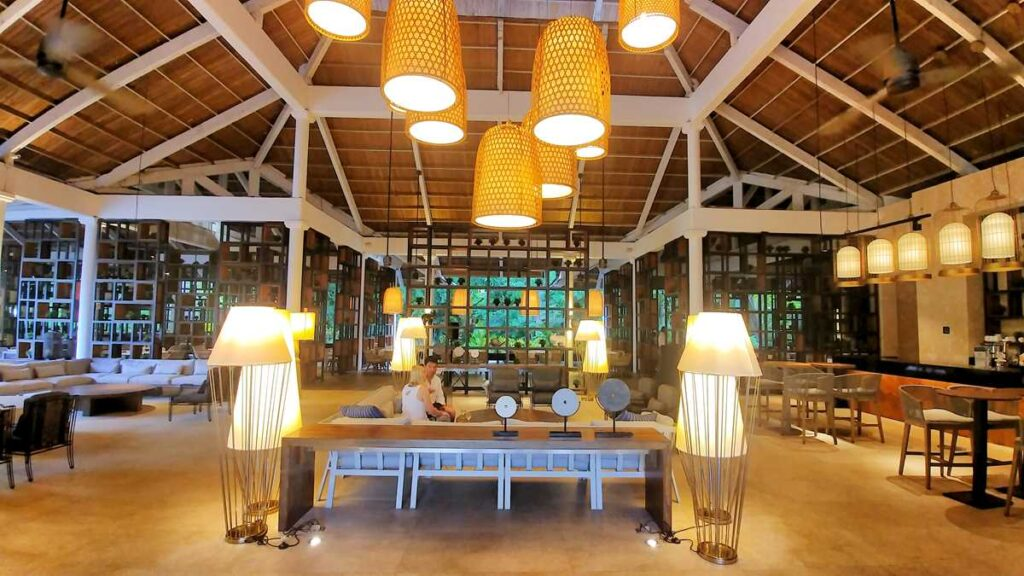 A wonderful lobby and lounge area in the platinum section of Grand Bavaro Princess