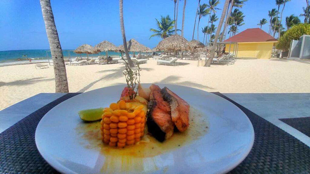 Beachfront restaurant at Grand Bavaro Princess Platinum Private Club