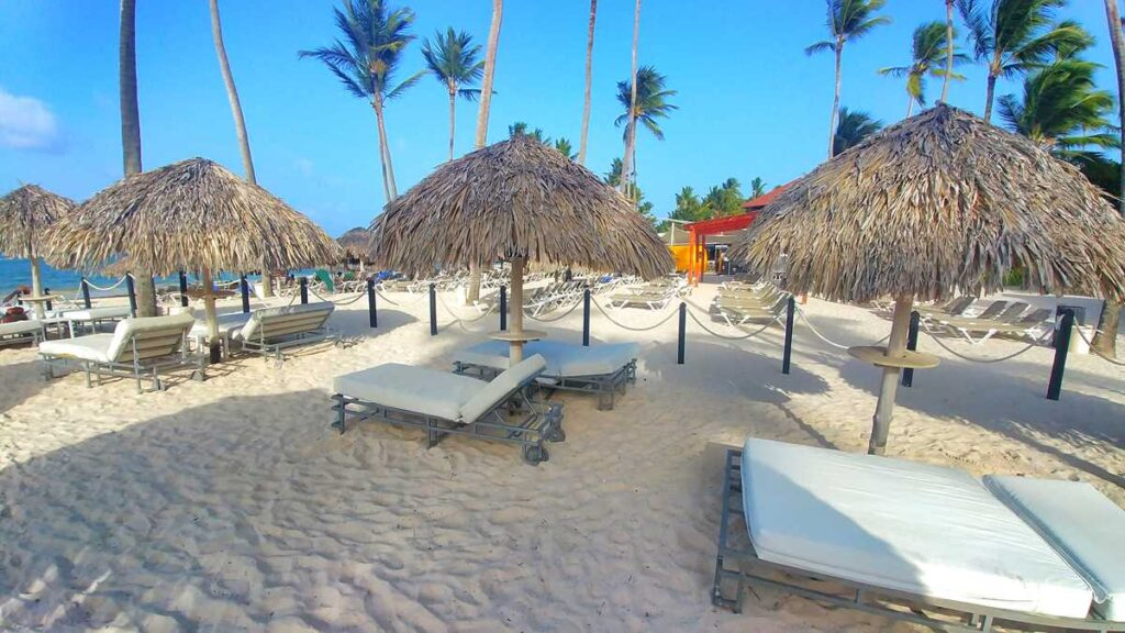 Grand Bavaro Princess beach, the platinum section