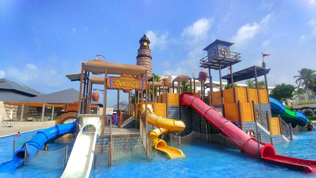 The water park at Princess Family Club Bavaro, perfect for families in Punta Cana