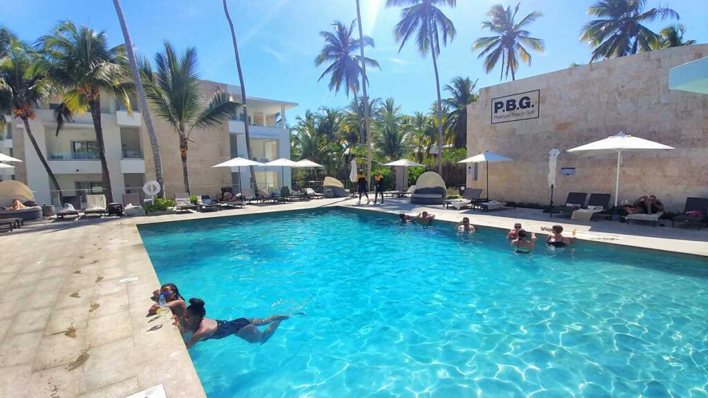 The pool at the Platinum Club section of Grand Bavaro Princess