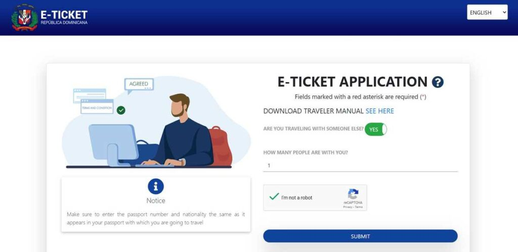 The Dominican Republic e-ticket portal with its online immigration form for Punta Cana and beyond